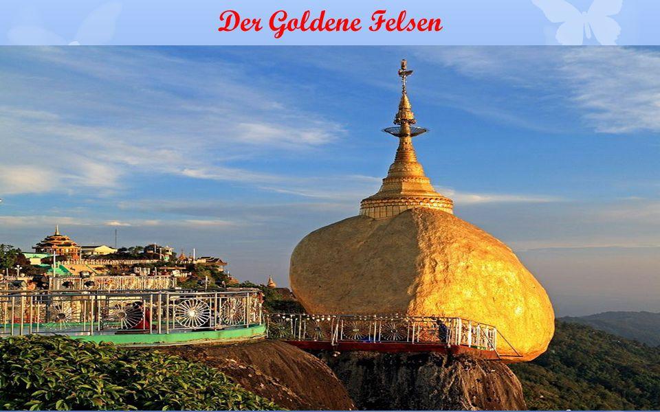 Schwedagon Pagode – bestückt mit 4500 Diamanten, 13000 Goldplatten, 107 m hoch u.