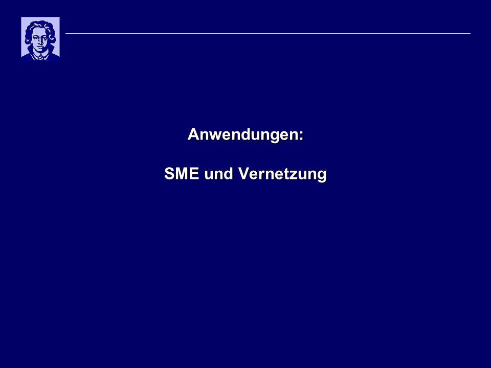 Anwendungen: SME und Vernetzung