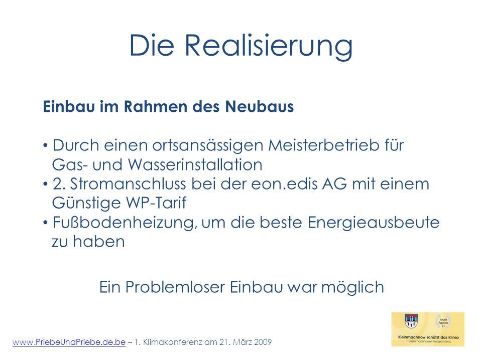 Die Realisierung www.PriebeUndPriebe.de.bewww.PriebeUndPriebe.de.be – 1.