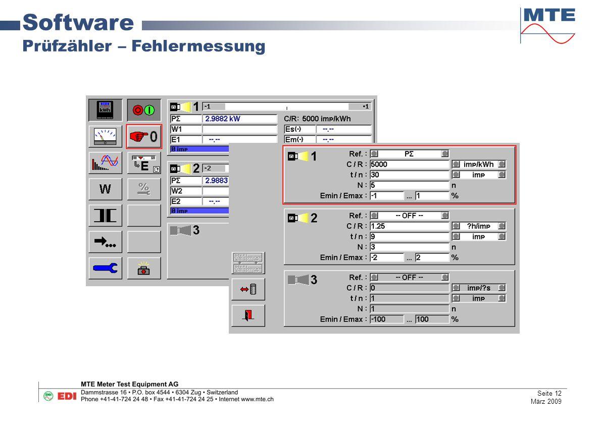 Software Prüfzähler – Fehlermessung Seite 12 März 2009