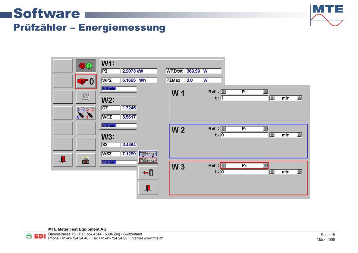 Software Prüfzähler – Energiemessung Seite 15 März 2009