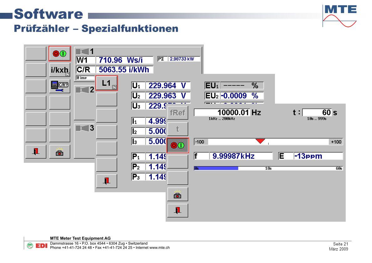 Software Prüfzähler – Spezialfunktionen Seite 21 März 2009