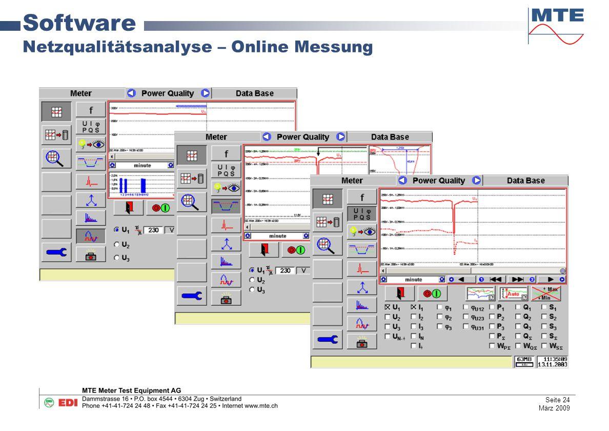 Software Netzqualitätsanalyse – Online Messung Seite 24 März 2009