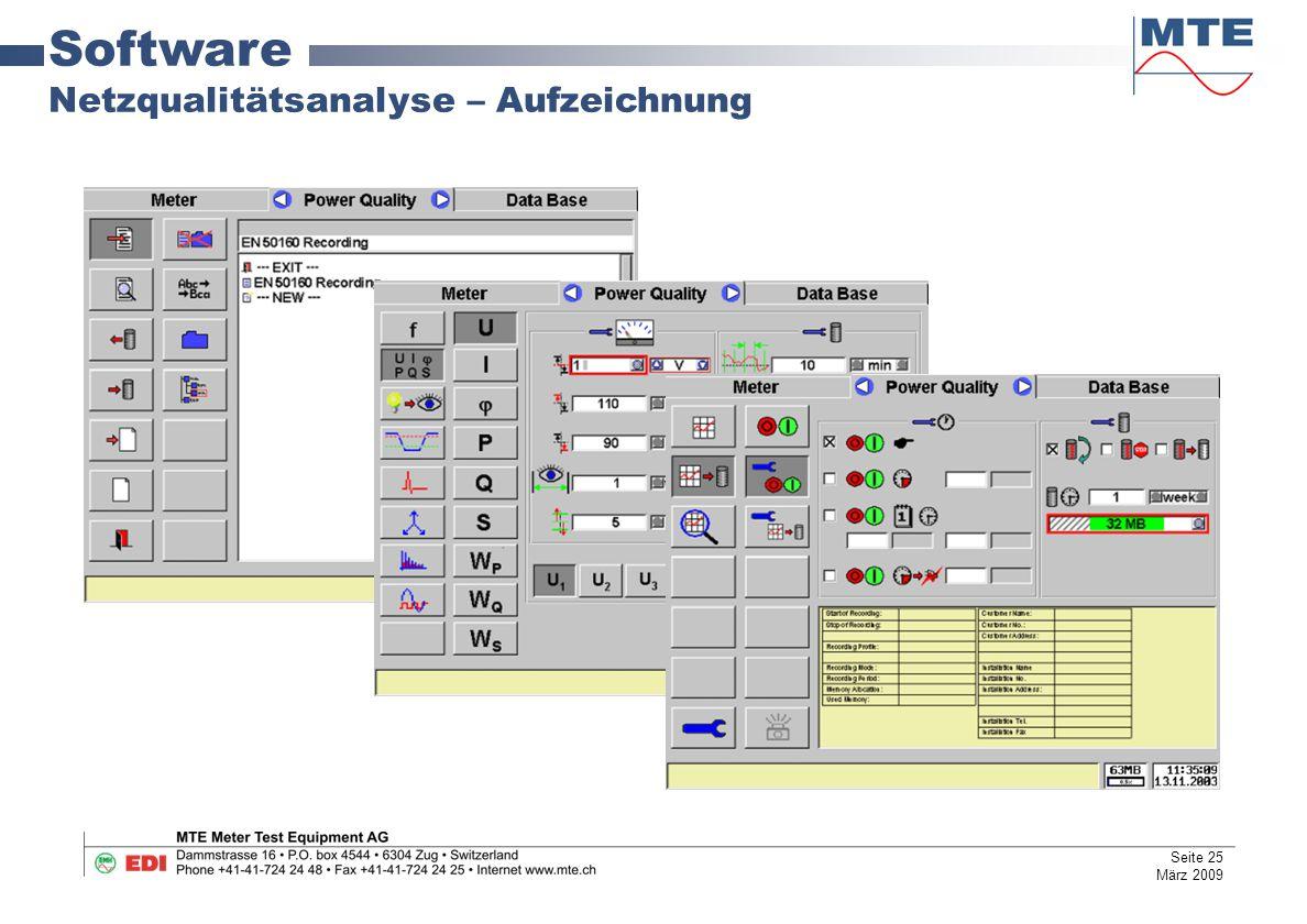 Software Netzqualitätsanalyse – Aufzeichnung Seite 25 März 2009