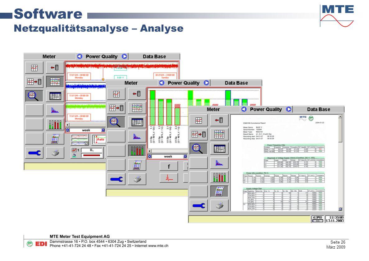 Software Netzqualitätsanalyse – Analyse Seite 26 März 2009