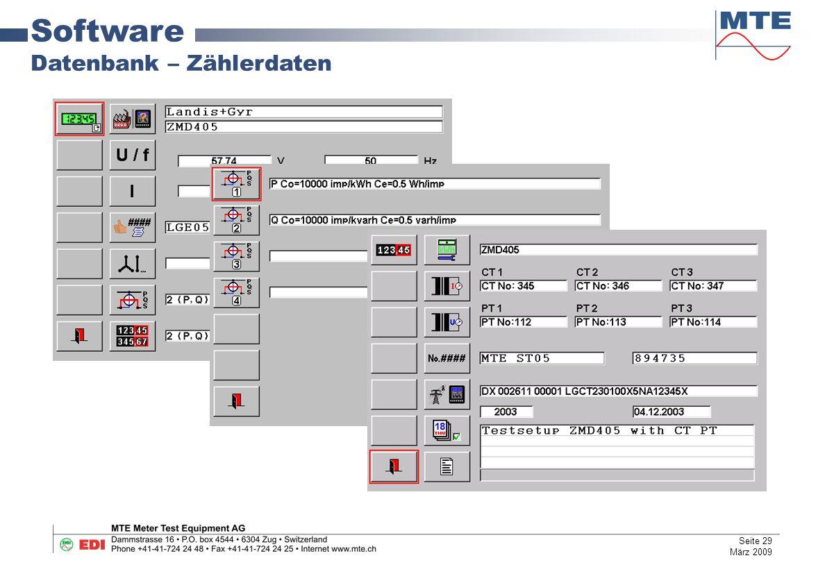 Software Datenbank – Zählerdaten Seite 29 März 2009