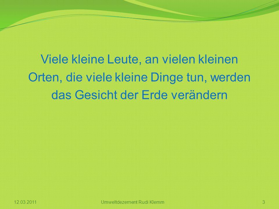 Bausteine des Agendaprozesses 412.03.2011Umweltdezernent Rudi Klemm