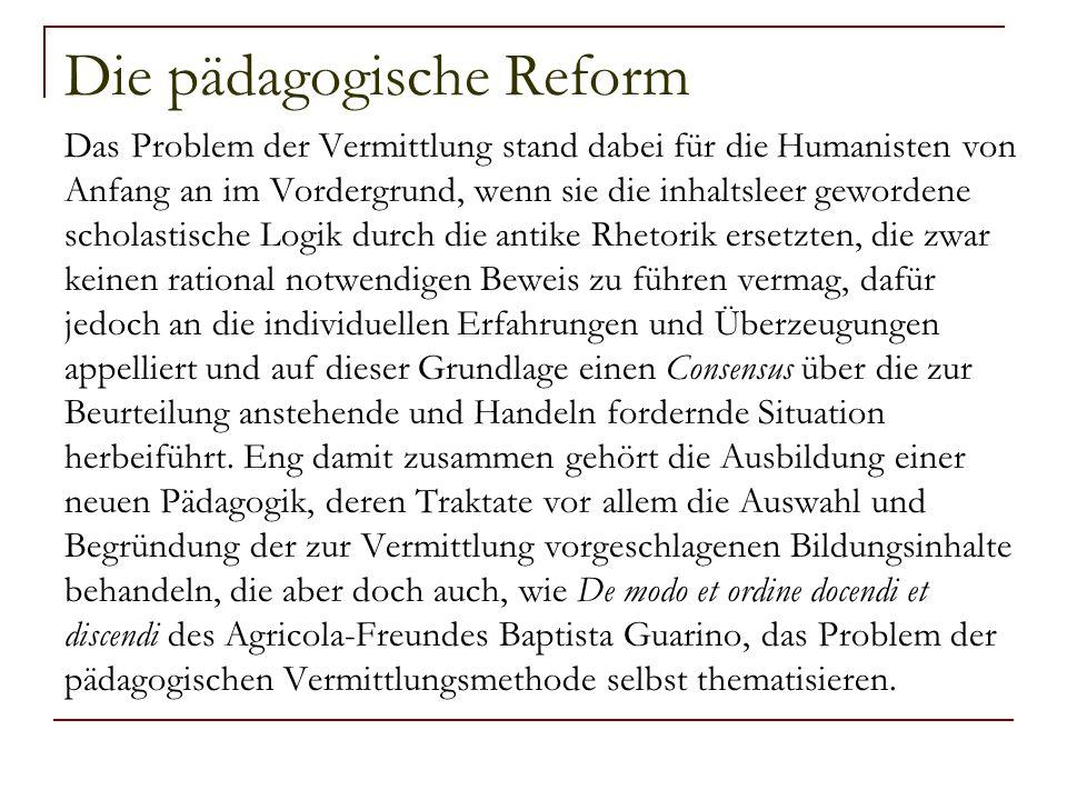 Battista Guarino gegen die scholastische Physik des Aristoteles für die rhetorische Historia naturalis von Plinius 1.