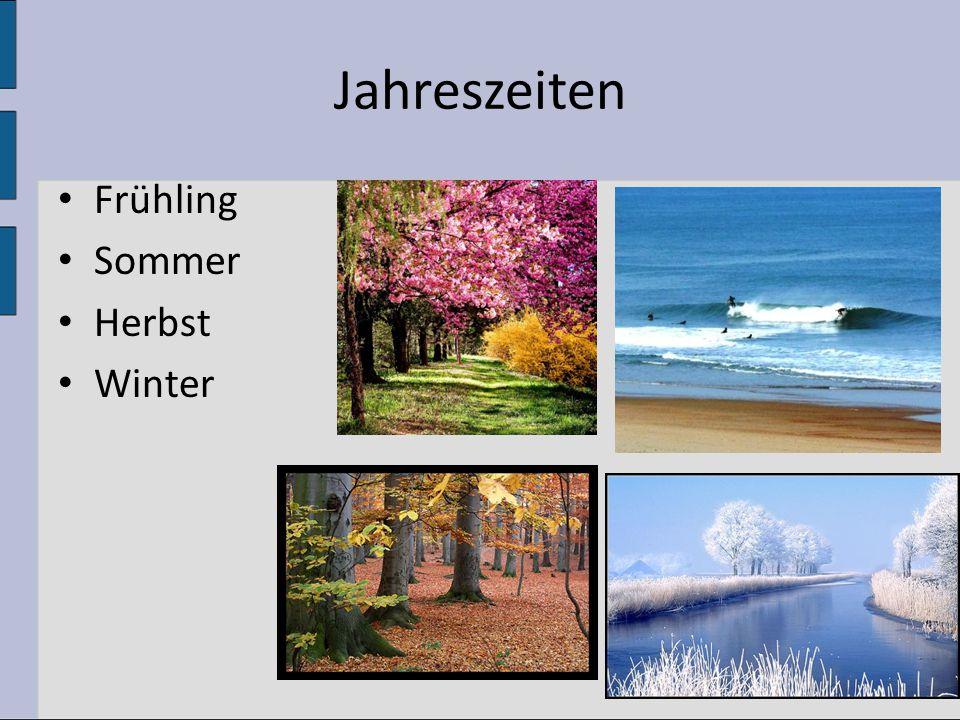 Jahreszeiten Frühling Sommer Herbst Winter