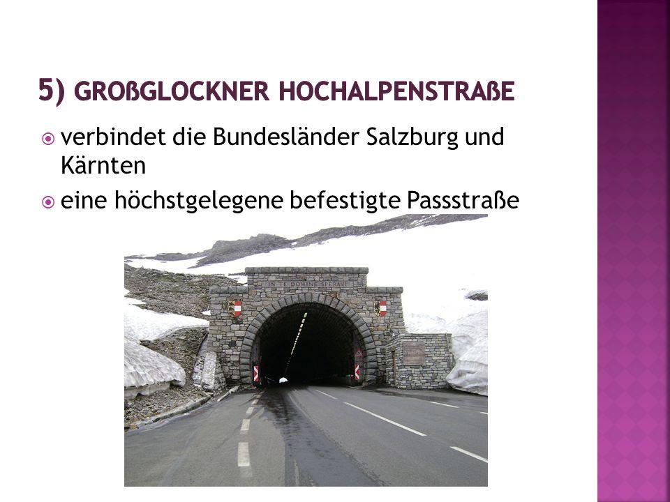  verbindet die Bundesländer Salzburg und Kärnten  eine höchstgelegene befestigte Passstraße