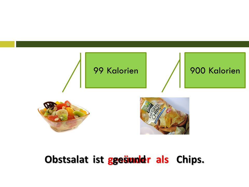 Obstsalat ist Chips. gesünderalsgesund 99 Kalorien900 Kalorien