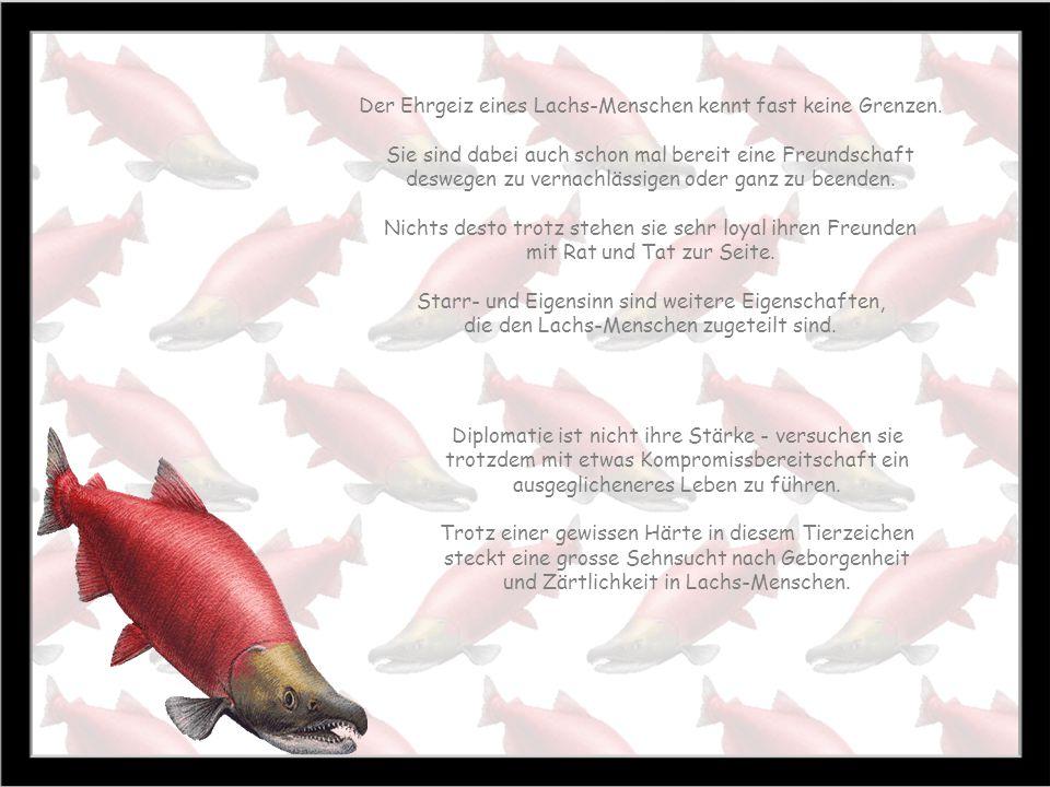 Lachs 22.7. 21.8 Zeit des Reifens Baum: Eibe Stein: Karneol Farbe: rot Lachs-Geborene sind gute Führungs-kräfte, wirken selbstbewusst und sind sehr do