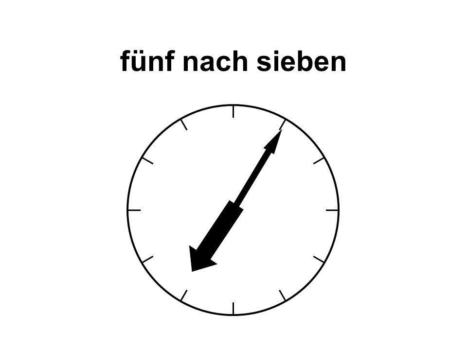 fünf Uhr