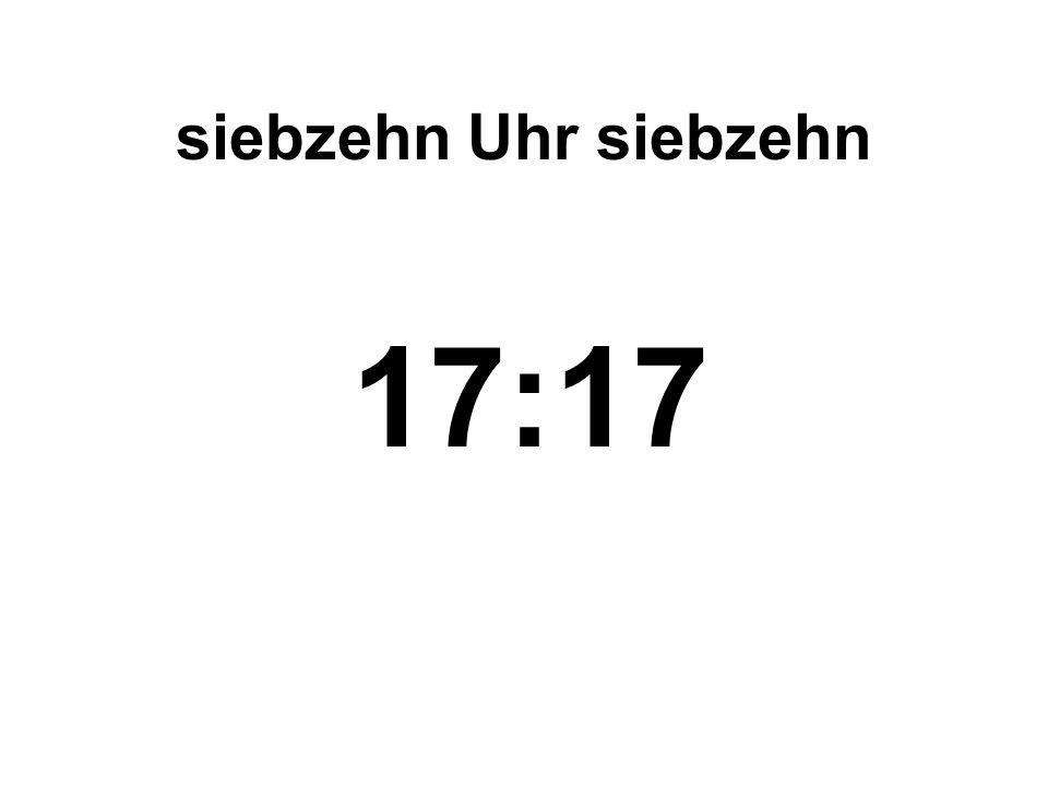 fünfzehn Uhr dreiundzwanzig 15:23