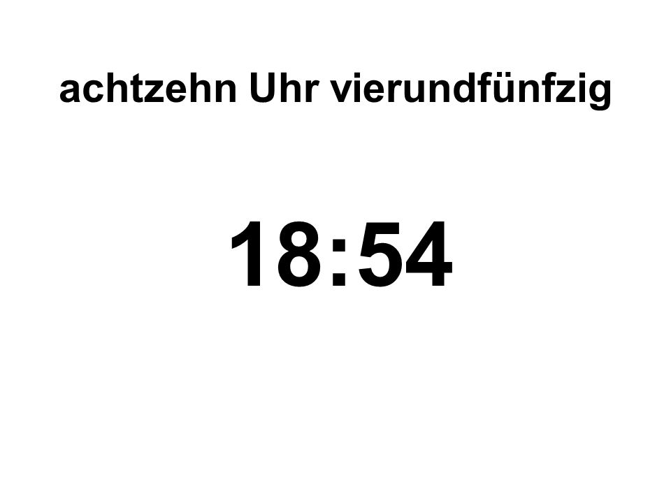 siebzehn Uhr siebzehn 17:17