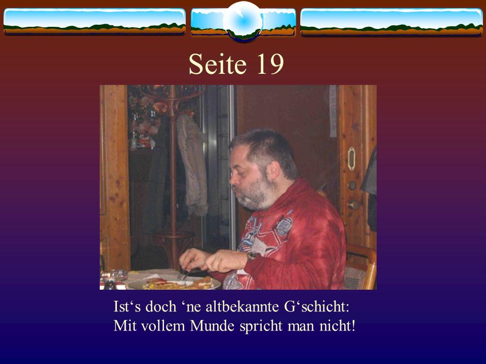Seite 20 Wer schaut so tief ins Glaserl rein Das kann doch nur die Luki sein.