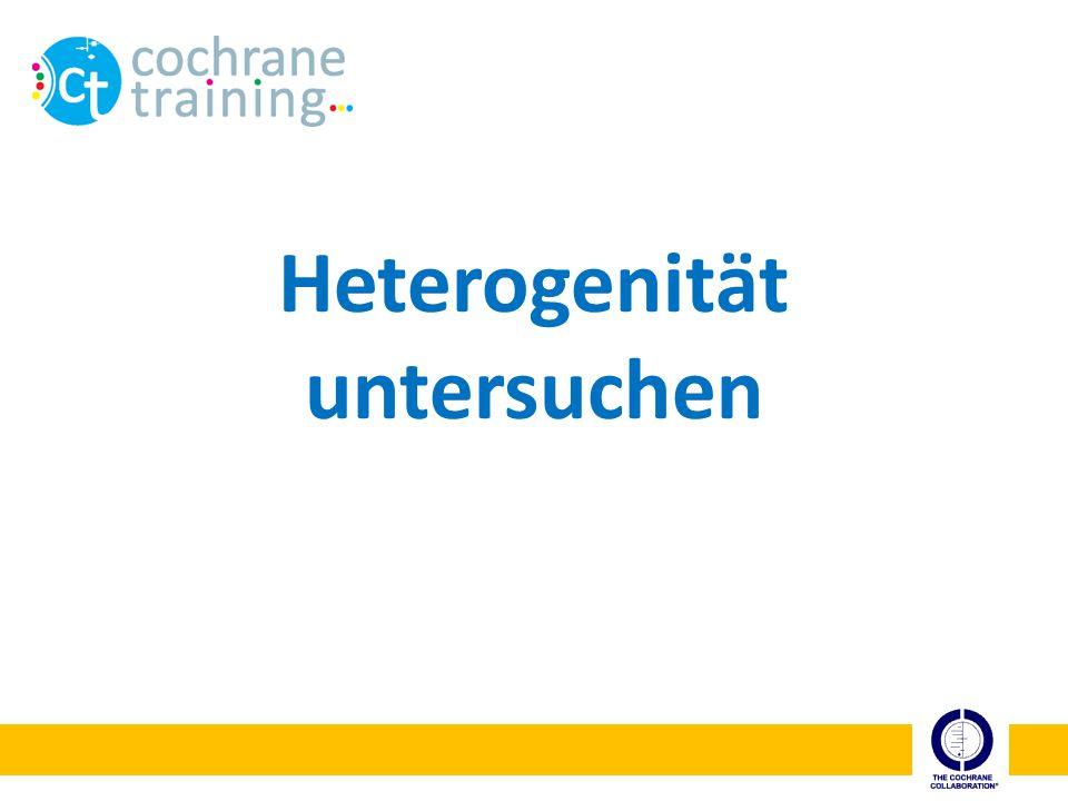 cochrane training Die I 2 Statistik
