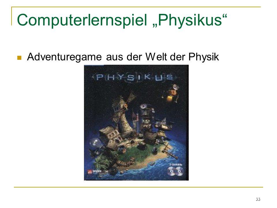 """33 Computerlernspiel """"Physikus"""" Adventuregame aus der Welt der Physik"""