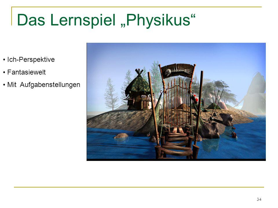 """34 Das Lernspiel """"Physikus"""" Ich-Perspektive Fantasiewelt Mit Aufgabenstellungen"""