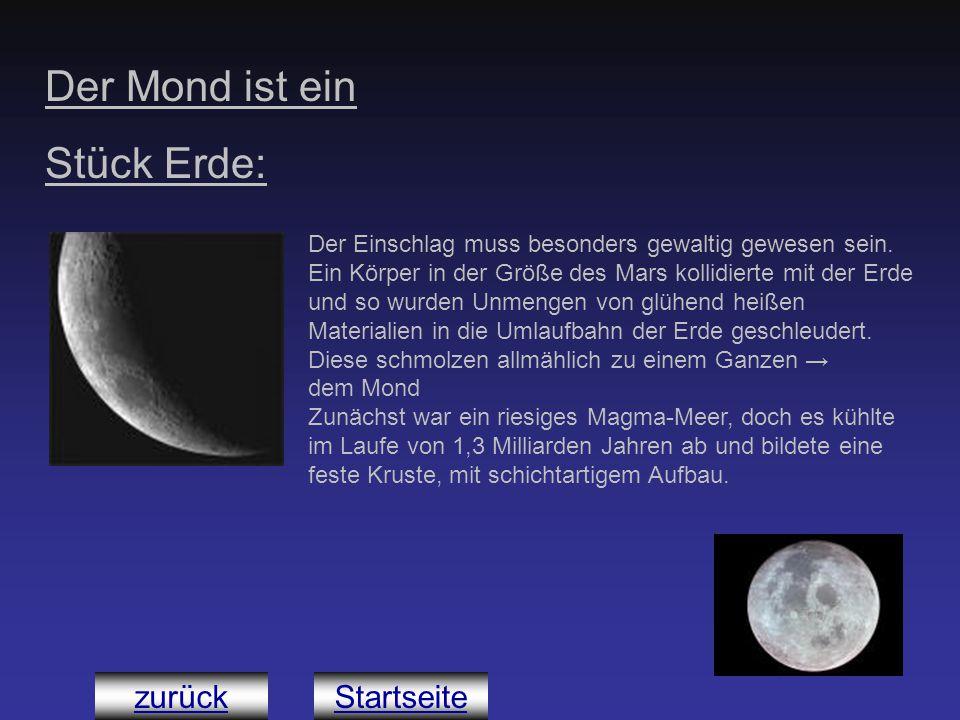 Der Mond ist ein Stück Erde: Der Einschlag muss besonders gewaltig gewesen sein. Ein Körper in der Größe des Mars kollidierte mit der Erde und so wurd