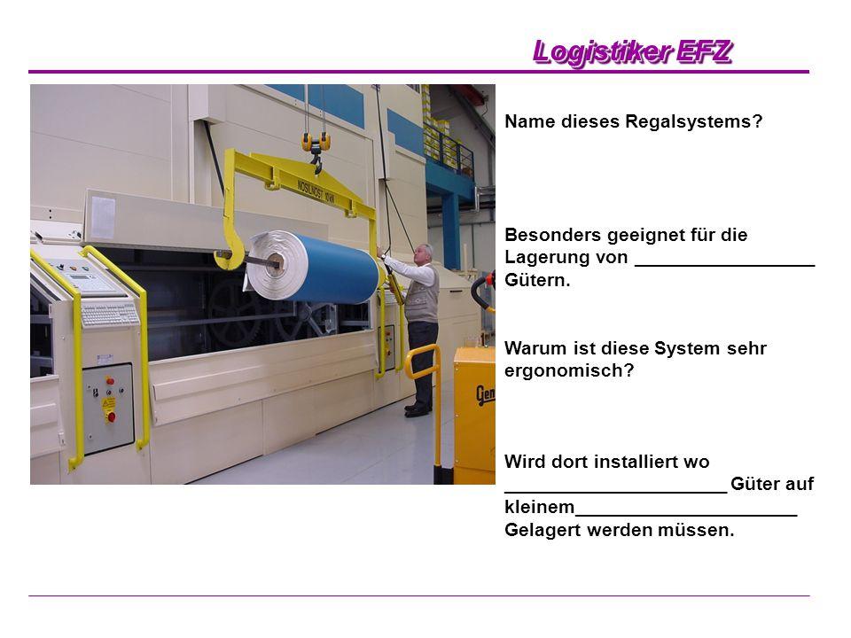 Logistiker EFZ Wabenregal, geeignet für Langgüter.