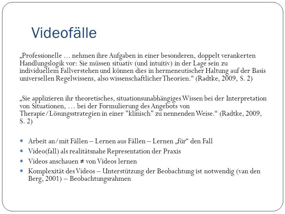 Unser Ansatz: Fälle im VideoWeb