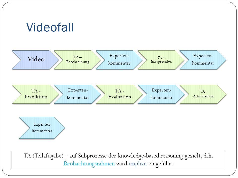 Beobachtungsrahmen Beschreiben Interpretieren Erklären Konsequenzen überlegen (Prädiktion) Bewerten Alternativen vorschlagen (vgl.