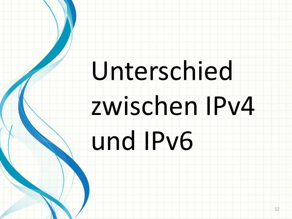 Unterschied zwischen IPv4 und IPv6 12