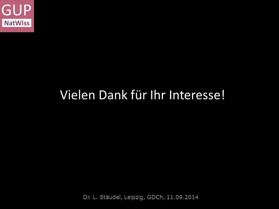 Die Konstruktion der Hilfen Dr. L. Stäudel, Leipzig, GDCh, 11.09.2014 Vielen Dank für Ihr Interesse!