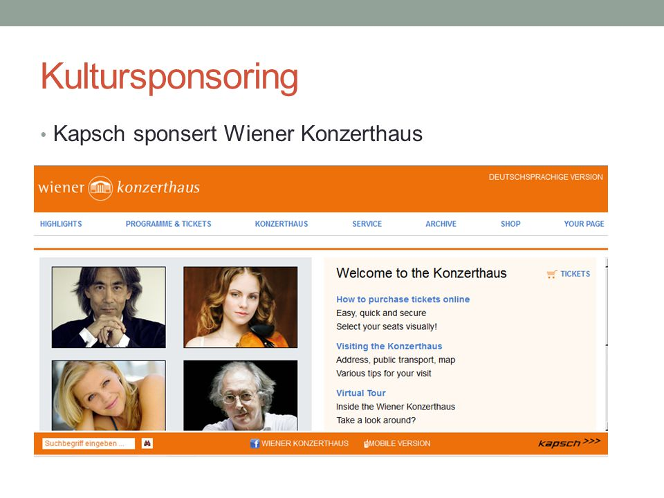 Kultursponsoring Kapsch sponsert Wiener Konzerthaus