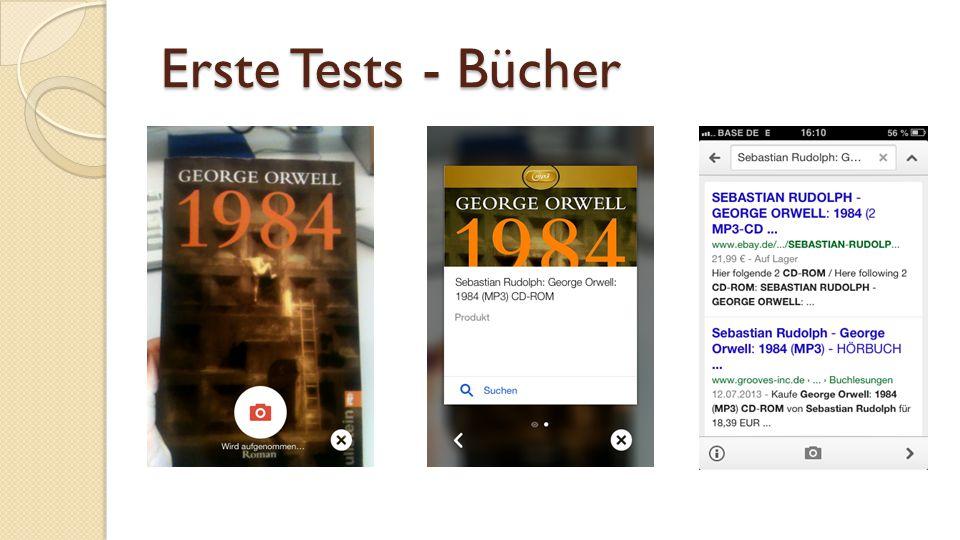 Erste Tests - Bücher