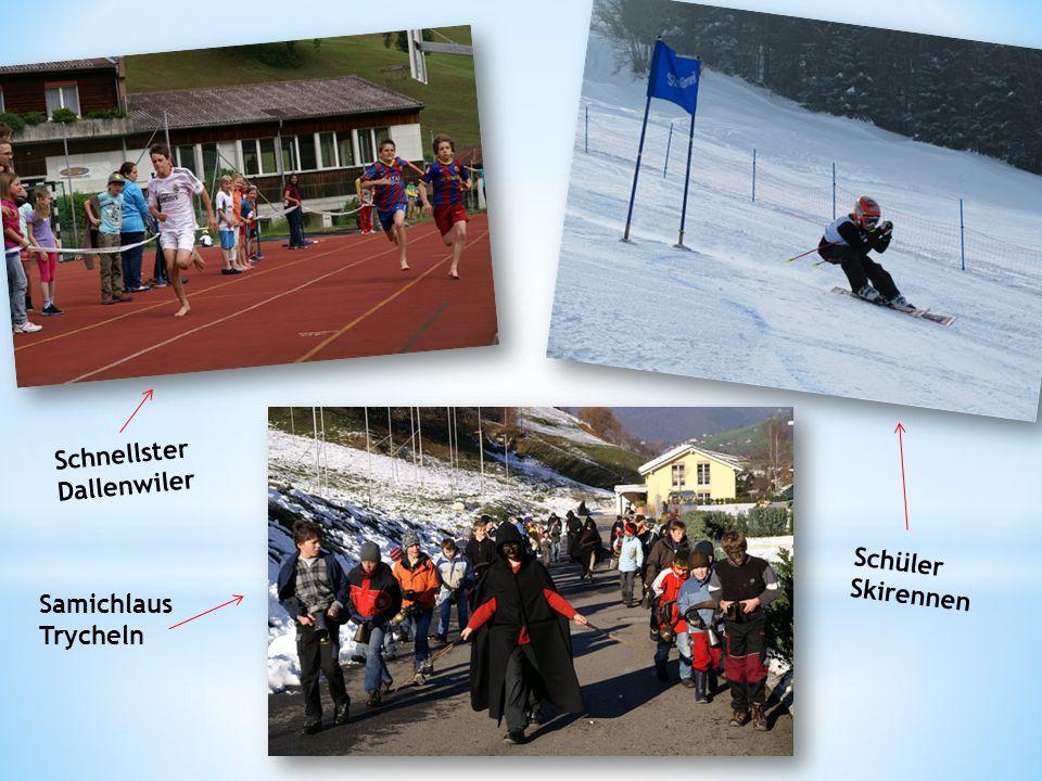 Schnellster Dallenwiler Samichlaus Trycheln Schüler Skirennen
