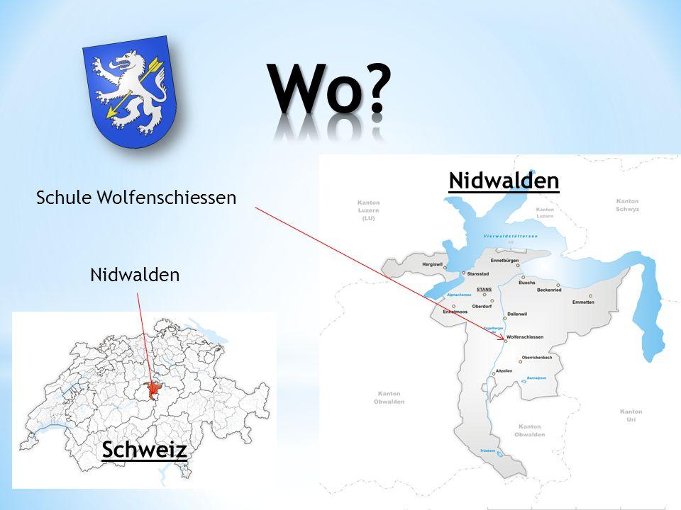 Schule Wolfenschiessen Nidwalden Schweiz Nidwalden
