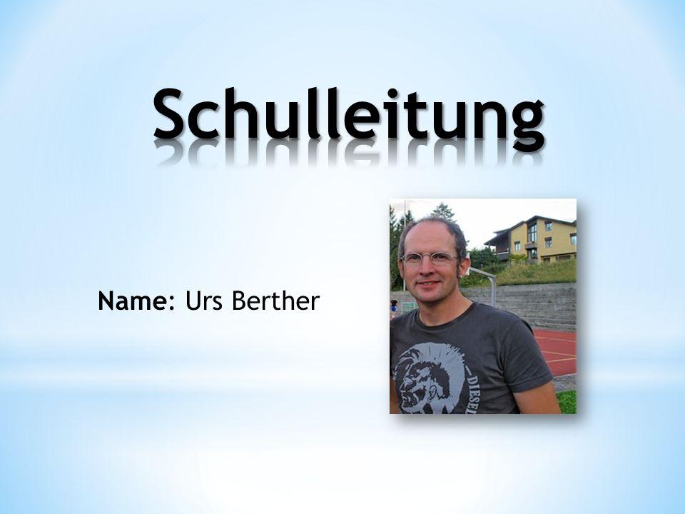 Name: Urs Berther