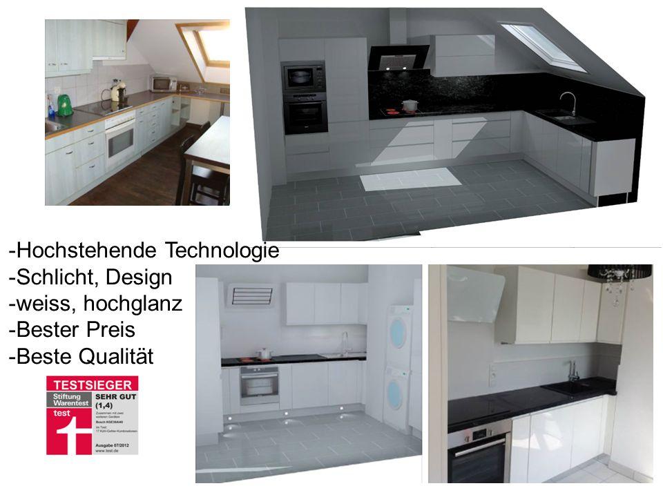 -Hochstehende Technologie -Schlicht, Design -weiss, hochglanz -Bester Preis -Beste Qualität GS, 28.07.2014 - Version 1.011