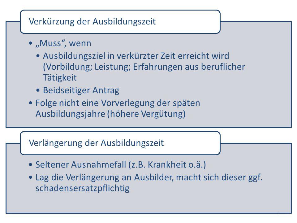 5 Schriftform Mit Inhalt des § 11 BBiG (insb.
