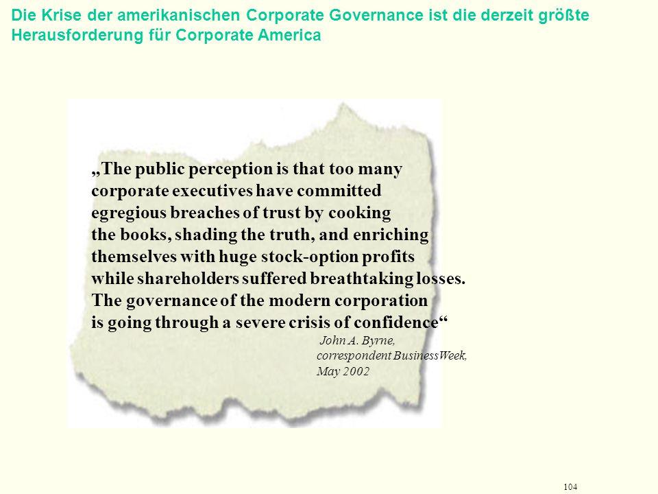 103 Teil1: Grundlagen der Führung 4. Corporate Governance als Beispiel für die Bedeutung der Unternehmenethik