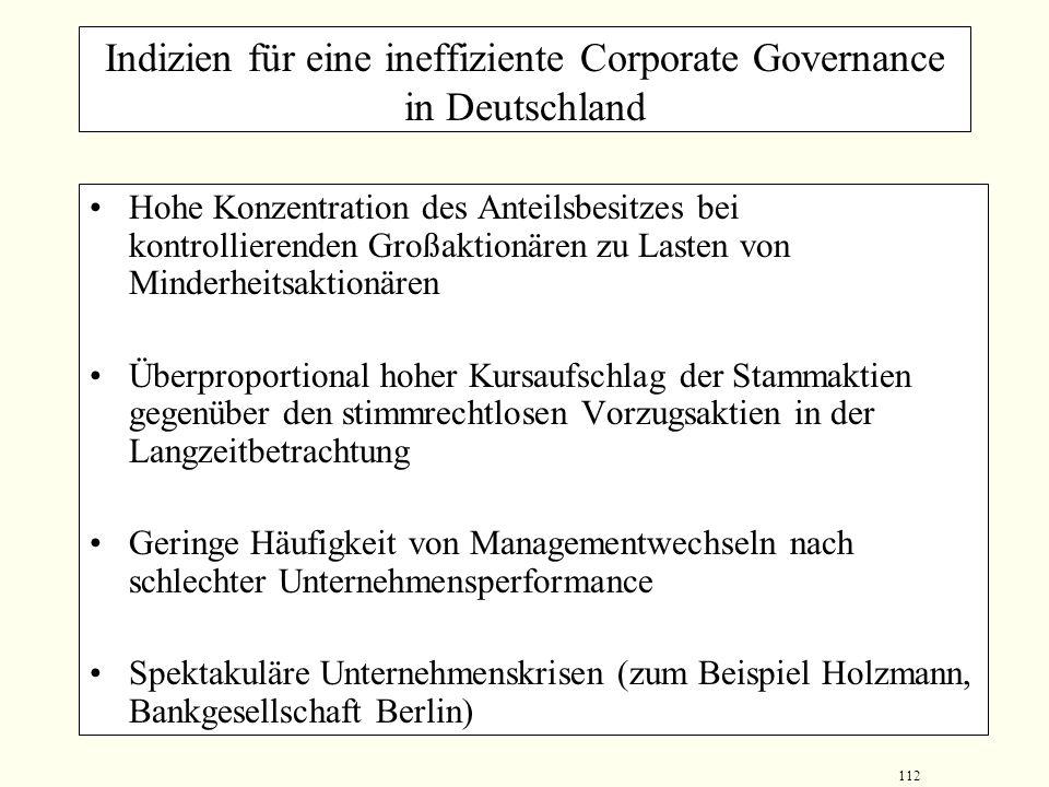 111 Corporate Governance in Deutschland