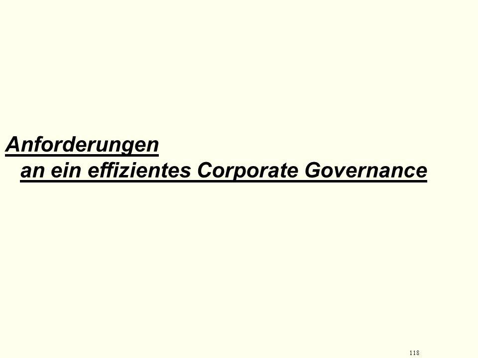 117 Gesetz zur Kontrolle und Transparenz im Unternehmensbereich (KonTraG) und viertes Finanzmarktförderungsgesetz Ansatzpunkte: Aufsichtsrat Vorstand
