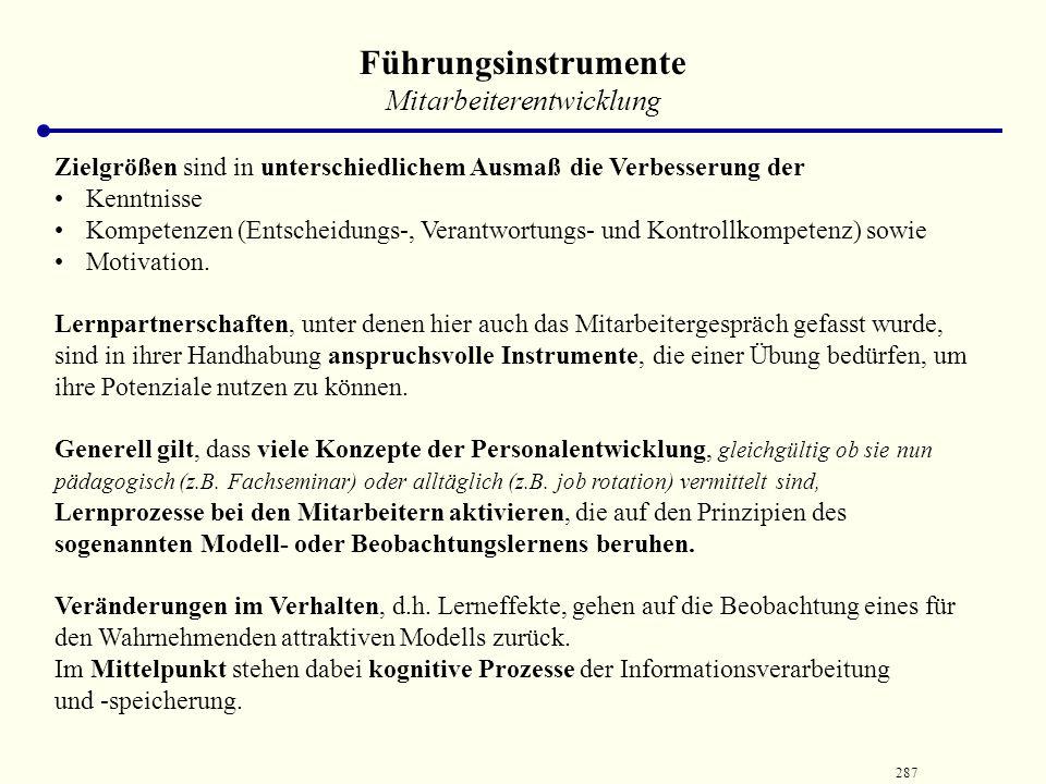 286 Konzepte der Personalentwicklung into-the-Job Berufsausbildung Juniorfirma Einarbeitung Trainee-Programm on-the-Job near-the-Job Lernstatt Entwick