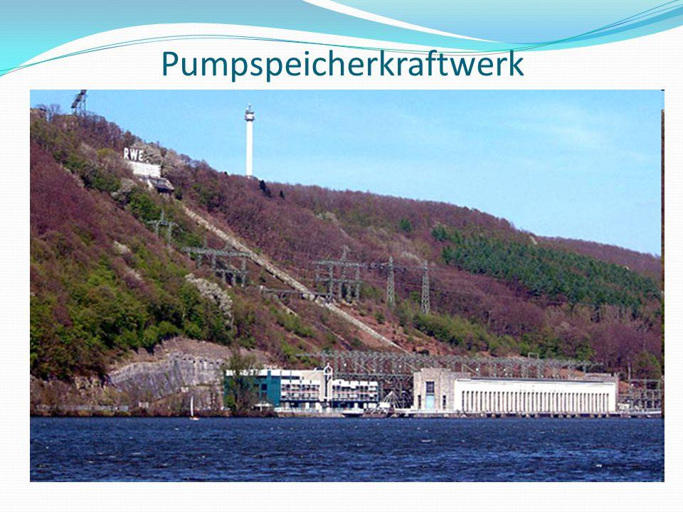In Deutschland gibt es 33 Pumpspeicherkraftwerke.( z.B.