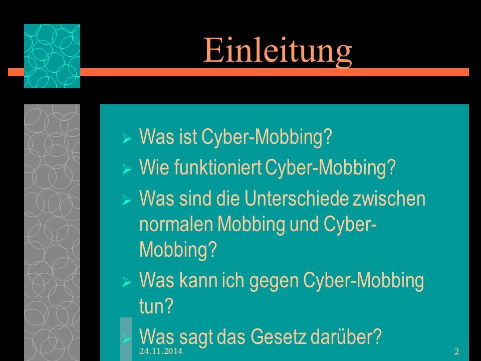 Was ist Cyber-mobbing.