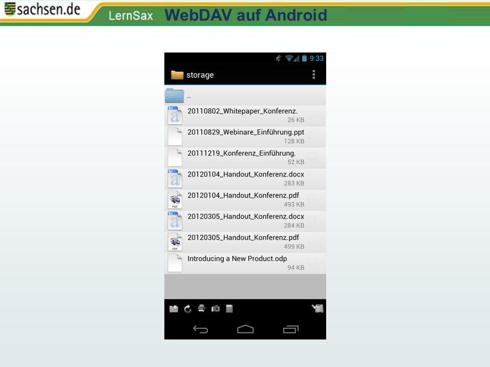 WebDAV auf Android