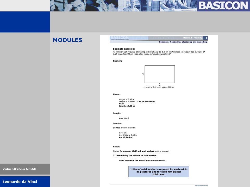 Leonardo da Vinci Zukunftsbau GmbH MODULES