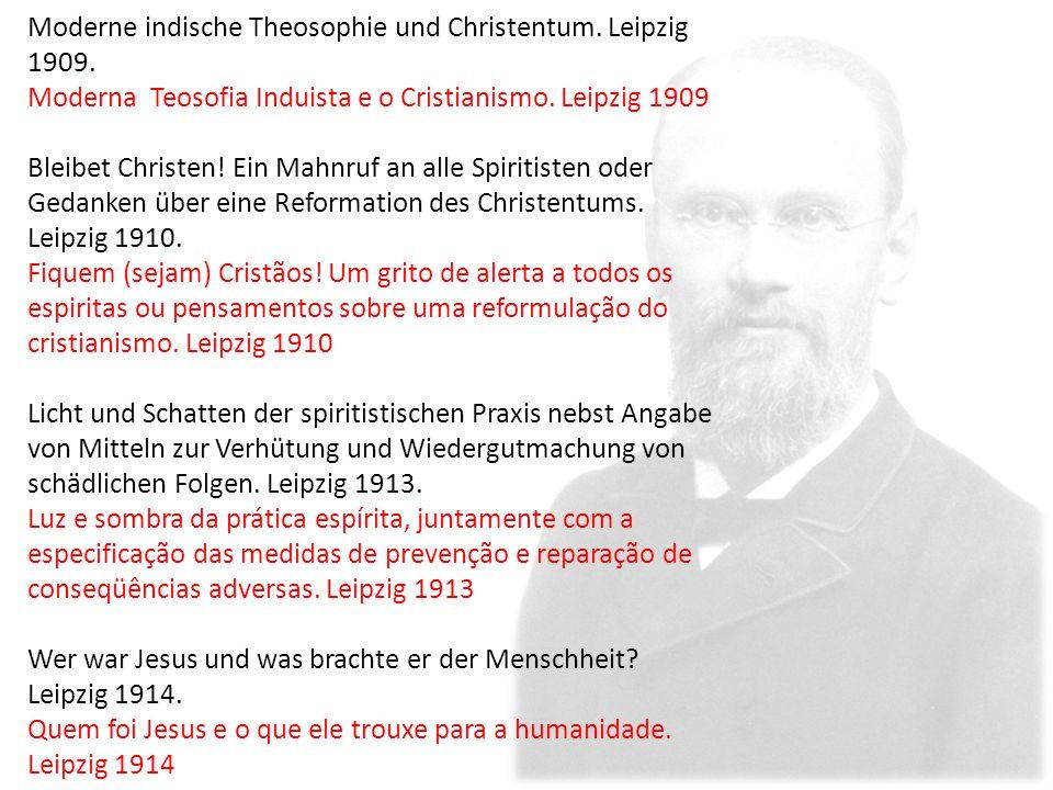 Moderne indische Theosophie und Christentum. Leipzig 1909.