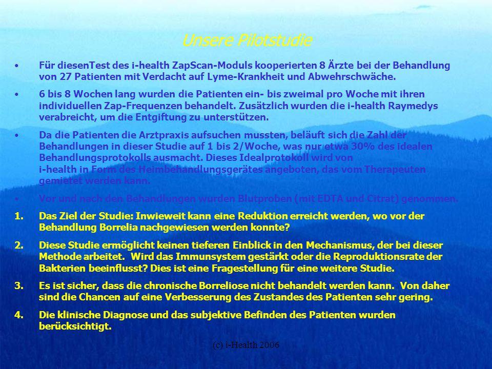 (c) i-Health 2006 i-health ® möchte sich bei allen Beteiligten herzlich bedanken.