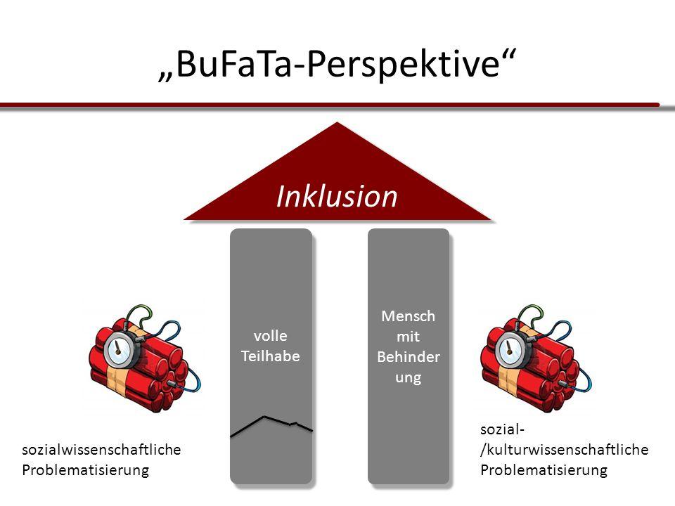 """volle Teilhabe Mensch mit Behinder ung Inklusion """"BuFaTa-Perspektive"""" sozialwissenschaftliche Problematisierung sozial- /kulturwissenschaftliche Probl"""