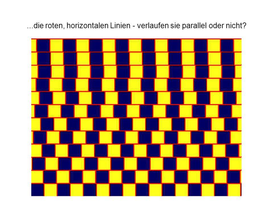 ...die roten, horizontalen Linien - verlaufen sie parallel oder nicht?