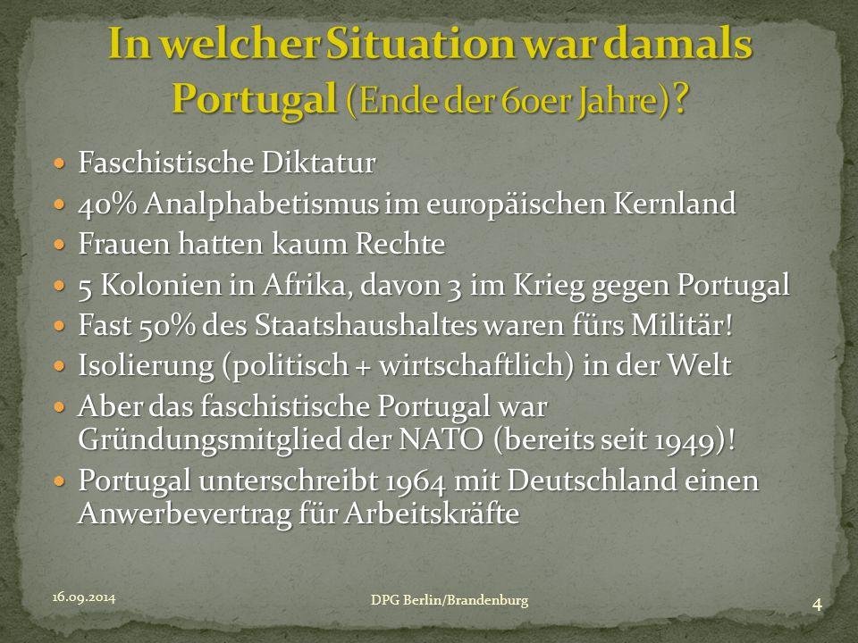 16.09.2014 5 DPG Berlin/Brandenburg Arman Portugiesen: 1975 höchste Zahl 1975 höchste Zahl 1987 niedrigste Zahl 1987 niedrigste Zahl