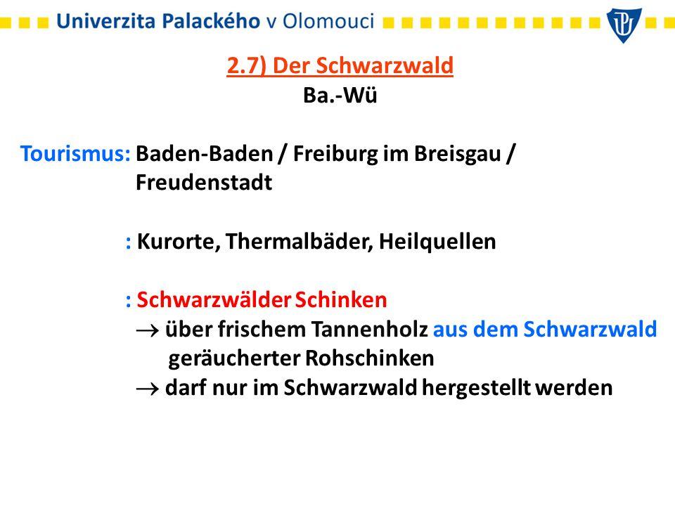 2.7) Der Schwarzwald Ba.-Wü Tourismus: Baden-Baden / Freiburg im Breisgau / Freudenstadt : Kurorte, Thermalbäder, Heilquellen : Schwarzwälder Schinken  über frischem Tannenholz aus dem Schwarzwald geräucherter Rohschinken  darf nur im Schwarzwald hergestellt werden